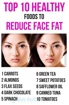 Top 10 Healthy Foods to Reduce Face Fat. Keen on knowing how to reduce fat in your face? Simple, just read on and see how effective these 10 foods can be when added to your diet plan. #skin_care