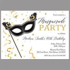 Surprise Birthday Party ANY Occasion Printable or Printed Cards ANY Colors Any Age