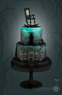 Eerie Halloween Cake That Lights Up Inside. . Ha, Ha, Ha, Ha. . .Fab!~ Little Cherry Cake Company (T-Cakes)