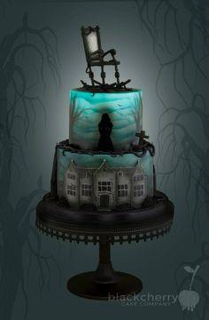 Eerie Halloween Cake That Lights Up Inside. . Ha, Ha, Ha, Ha. . .Fab!~ Little Cherry Cake Company (T-Cakes)