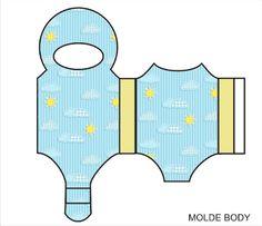 Moldes de Body para Lembrancinhas de Chá de Bebê e Nascimento! | Fazendo a Minha Festa