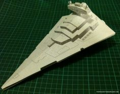 Papercraft and origami: Papercraft Imperial Star Destroyer
