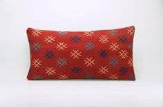 12x24 Vintage Hand Woven Kilim Pillow Lumbar 747  by GalenUnique, $39.00