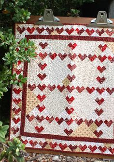 Valentines Day is quickly approaching.Make this cute little heart quilt for you or maybe some you...