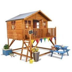 Buy Mad Dash Lollipop Max Tower Wooden Playhouse 7 x 8 from our Children's Playhouses range - Tesco.com