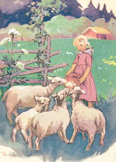 MARTTA WENDELIN - Tyttö ja lampaat