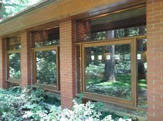 Dr. Isidore and Lucille Zimmerman House. Manchester, New Hampshire. Usonian Style. 1950. Frank Lloyd Wright