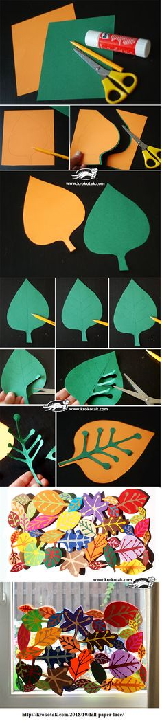 Fall Art Projects, Diy Projects For Kids, School Art Projects, Diy For Kids, Crafts For Kids, Art N Craft, Toy Craft, Paper Lace, Paper Flowers