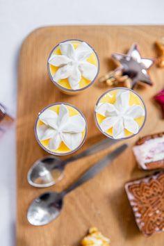 Mini Lemon Cream Trifles - The Sweet Rebellion - Mini Lemon Cream Trifles Delicious mini truffles with layers of Lemon Cream crumbs, lemon custard and cream. The perfect mini dessert! Winter Desserts, Mini Desserts, Christmas Desserts, Easy Desserts, Delicious Desserts, Dessert Recipes, Christmas Recipes, Lemon Trifle, Dessert Platter
