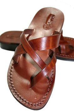 Brown Comply Leather Sandals for Men & Women - Handmade Sandals, Flat Jesus… Cute Sandals, Strappy Sandals, Leather Sandals, Shoes Sandals, Flats, Heels, Jesus Sandals, How To Stretch Shoes, Leather Flip Flops