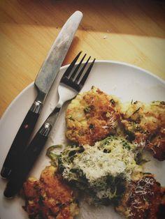 Shrimp Cakes and Zucchini Pasta - #Paleo