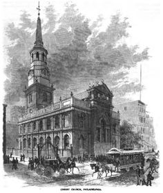 """Pennsylvania Christ Church in Philadelphia Date founded: 1695 Location: Philadelphia (Map it) Meeting time: Sundays at 9 a.m. and 11 a.m. Denomination: Episcopal Fun fact: Because of the well-known Revolutionary leaders who worshipped here, Christ Church is known as """"The Nation's Church."""" Its burial ground is the resting place of Benjamin Franklin and four signers of the Declaration of Independence."""