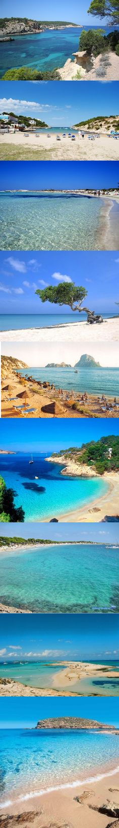 Ibiza beaches, Spain Will be there on June! Menorca, Ibiza Formentera, Places To Travel, Places To See, Travel Destinations, Most Beautiful Beaches, Beautiful Places, Spain Travel, Ibiza Travel