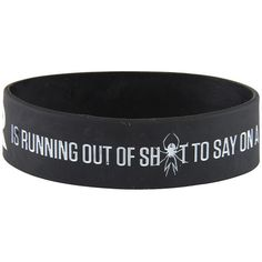 Rokk Band My Chemical Romance Running Out Wristband, MCR merch UK ($6.85) ❤ liked on Polyvore