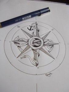 50 Meilleures Images Du Tableau Rose Des Vents Tattoo Compass