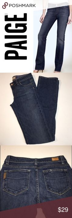"""Paige Melrose Jeans ✔️Melrose: Straight Cut ✔️Inseam: 33.5"""" ✔️98% Cotton/2% Spandex ✔️No Holes, Stains or Damages PAIGE Jeans Straight Leg"""