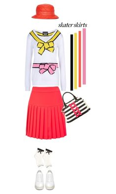 """Put a Bow On'"" by dianefantasy ❤ liked on Polyvore featuring mode, McQ by Alexander McQueen, Off-White, Boutique Moschino, Moschino, Betsey Johnson, skaterSkirts en polyvoreeditorial"
