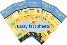 Quick reference essay fact sheets for grades Creative Writing Essays, Essay Writing, Narrative Essay, Argumentative Essay, Infographics, Facts, Infographic, Info Graphics, Visual Schedules