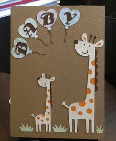 A card made with Cricut Create a Critter and Hello Kitty font cartridges