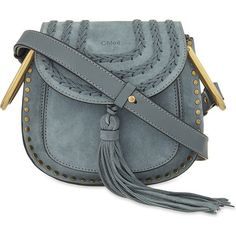 Chloé Hudson Mini Suede Cross Body Bag 3S1220-H67 ($1,800) ❤ liked on Polyvore featuring bags, handbags, shoulder bags, crossbody purse, chloe purses, suede handbags, chloe crossbody and suede shoulder bag