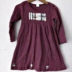 Girl's Dress Hand Dyed Dusty Maroon Toddler 4 by carolnesperstudio, $36.00