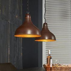 Hanglamp dubbele kap 2L Factory verweerd