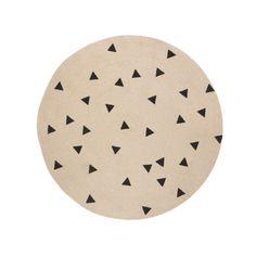 Round Jute Rug || modern rugs, modern textiles, modern accents