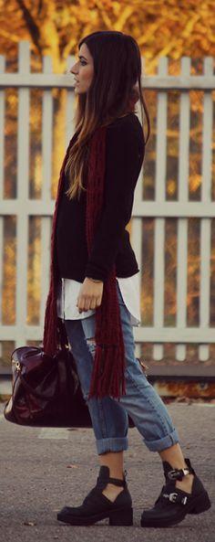 Un Dolcevita #Nero E Dei #Jeans by La Borsa Di Mary Poppins