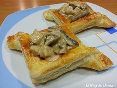 Tartaletas de hojaldre rellenas de pollo y champiñones al Pedro Ximenez | El Blog de Eloweyn