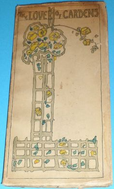 RARE JESSIE M KING ART NOUVEAU GLASGOW SCHOOL THE LOVER OF GARDENS FOULIS 1913