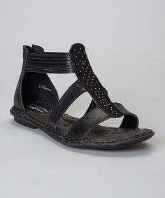 Loving this Black Kenza Gladiator Leather Sandal on #zulily! #zulilyfinds