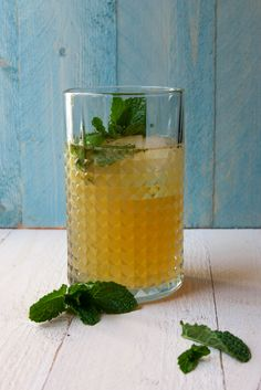 A classic mojito gets the golden touch with aged rum and maple syrup.