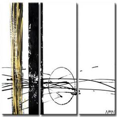 Cuadros modernos al oleo en blanco y negro art - Bimago cuadros modernos ...
