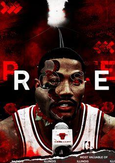 55a18d3546a0 Derrick Rose art POSTER nba Derrick Rose Canvas Chicago Bulls nba player -  Basketball Canvas