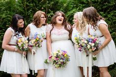 love these bridesmaid dresses and this shot!