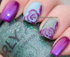 Orly Mash Up nails: Beautiful Disaster, Pretty-Ugly and Sparkling Garbage