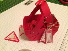 Cute tiny Valentines basket.