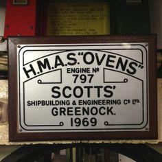 HMAS Ovens - Engine No 797 Scotts' Shipbuilding & Engineering Co, Greenock 1969 Maritime Museum, Round House, Shipwreck, Western Australia, Scotland, Ovens, Gallery, Museums, Engineering
