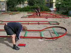 Torshov Park - Oslo.  Christiania Minigolf Club. All built up and based on voluntary work by the club members!