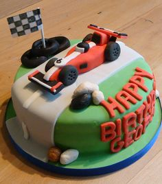 'Racing Car' - Birthday Cake