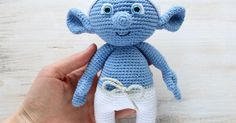 Hug a Smurf today! Make your own crochet Smurf using our free amigurumi pattern! The crochet Smurf is about 26 cm tall. | Amigurumi | Pinterest | The o'jays, F…