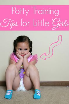 Potty Training Tips for Little Girls - #SayAdiosToDiapers #ad