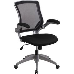 1 Pack Moustache /® Mesh Office Chair Managerial Chairs Executive Chairs with Adjustable Angle Recline Locking System Mid-Back Swivel Office Chair,Black