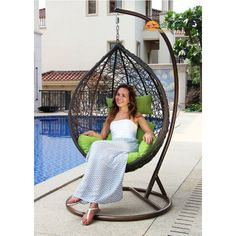 This swing chair is durable, stylish and comfortable. It's perfect for indoor & outdoor use, it will hold up an adult very well, and surely it's a fun chair your family will love! Egg Swing Chair, Swinging Chair, Egg Chair, Sofa Chair, Home Depot Adirondack Chairs, Composite Adirondack Chairs, Cool Chairs, Side Chairs, Lazy Boy Chair