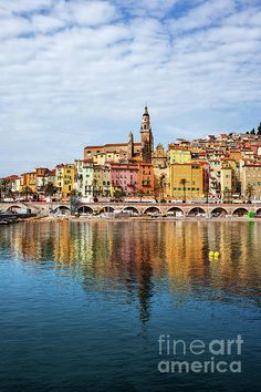 French Riviera, Old Town, Coast, France, Sea, Wall Art, Cityscapes, Architecture, Buildings