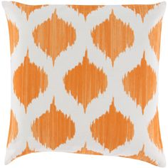 Surya Ikat Burnt Orange Decorative Pillow ($36) ❤ liked on Polyvore featuring home, home decor, throw pillows, patterned throw pillows, ikat home decor, colored throw pillows, burnt orange throw pillows and ikat throw pillows