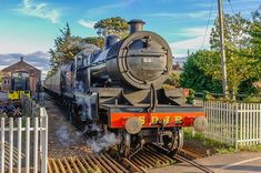 88 Leaving Dunster. Steam Locomotive 88 leaving Dunster station on the West Somerset Railway. LMS 13809, a… #westsomersetrailway #wsr