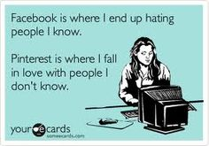 Facebook vs Pinterest....this is exactly how I feel after reading 50 weather related/ teacher bashing rants in Facebook.