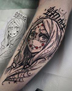 Tattoo Vadik Nevadik - tattoo's photo In the style Whip Shading, Illustrations, Gir Dope Tattoos, Anime Tattoos, Pretty Tattoos, Body Art Tattoos, Hand Tattoos, Sleeve Tattoos, Tatoos, Kawaii Tattoos, Manga Tattoo