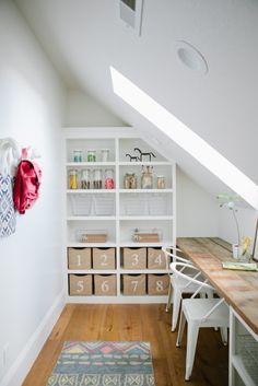 Modern Farmhouse Craft & Study Loft - House of Jade Interiors Blog